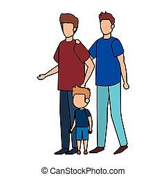 coppia, gaio, figlio
