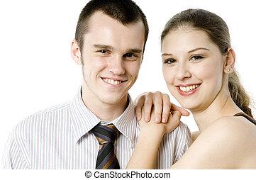coppia, giovane