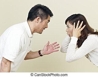 coppia, giovane, asiatico