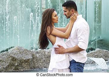 coppia, giovane, sensuale