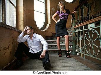 coppia, giovane, separazione