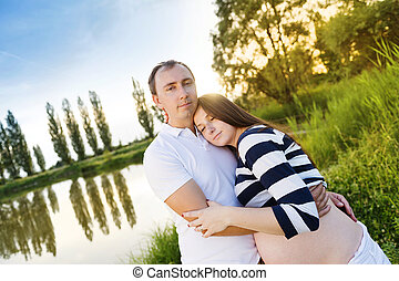 coppia, incinta