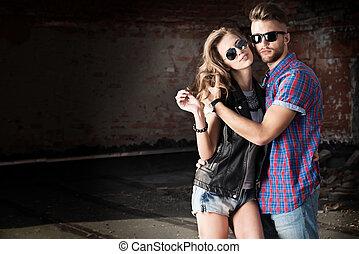 coppia, jeans