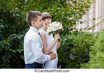 coppia, matrimonio, natura