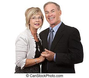 coppia, maturo, formale