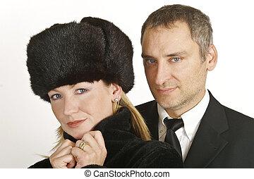 coppia, ricco