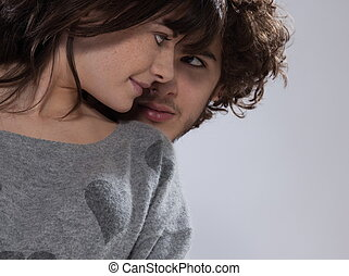 coppia, romantico, giovane