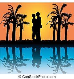 coppia, romantico