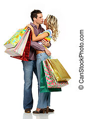 coppia, shopping, amore