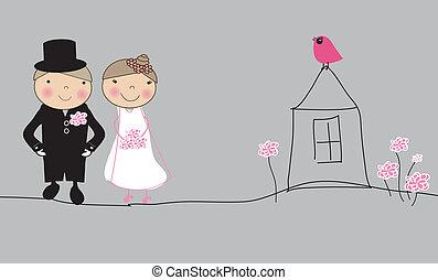 coppia, sposato, giusto
