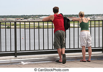 coppia, turista