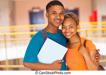 coppia, università, africano
