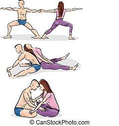 coppia, yoga