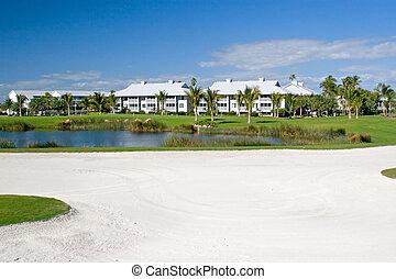 copropriétés, cours, golf