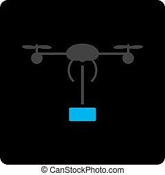 copter, verzending, pictogram