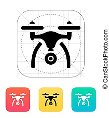Copter with camera icon. Vector illustration.