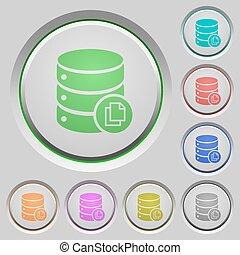 Copy database push buttons