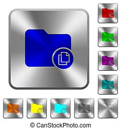 Copy directory rounded square steel buttons