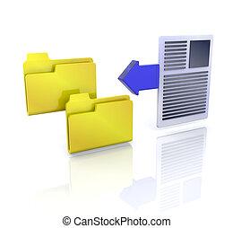Copy files icon - 3D computer icon for copy files