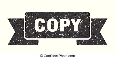 copy grunge ribbon. copy sign. copy banner