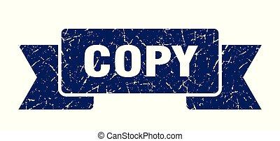 copy grunge ribbon. copy sign. copy banner