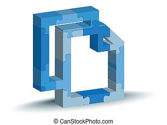 copy icon in puzzle
