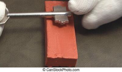 Copy key on clay