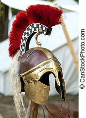 Copy of ancient helmet of Roman legionnaire