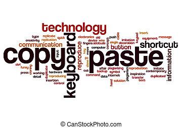 Copy paste word cloud concept - Copy paste word cloud