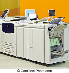 Copy printer - Big digital printer machinery in copy office