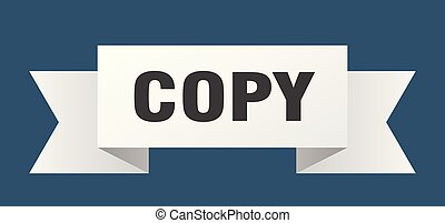 copy ribbon. copy isolated sign. copy banner