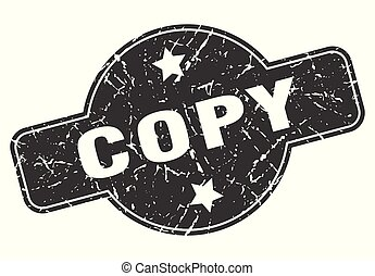 copy round grunge isolated stamp