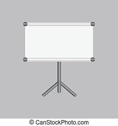 copy-space, écran, projection, vide