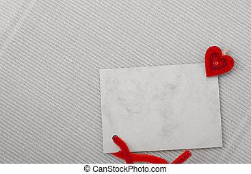 copy-space, 心, 纸, 爱, 卡片