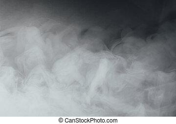copy-space, dicht, rauchwolken, hintergrund