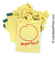 copy space for important notes