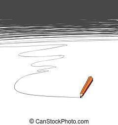 copy-space, pencil., fond