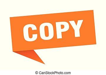 copy speech bubble. copy sign. copy banner