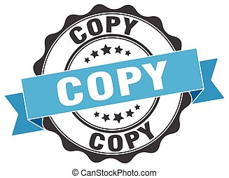 copy stamp. sign. seal