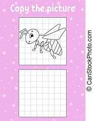 Copy the picture. Coloring book pages for kids. Education ...