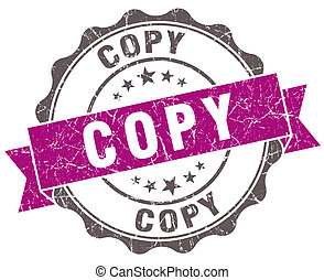 Copy violet grunge retro style isolated seal