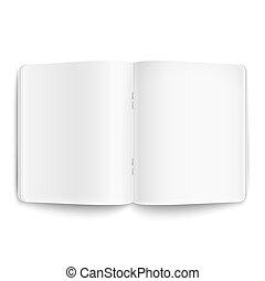 copybook, φόντο. , άσπρο , ανοιγμένα , κενό