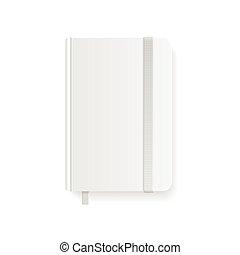 copybook, blanc, vecteur, template., vide