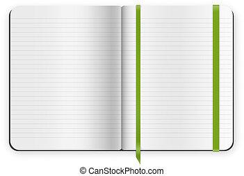 copybook, plantilla