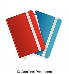 copybook, set., vecteur, gabarit, vide