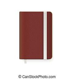 copybook, vecteur, template., vide