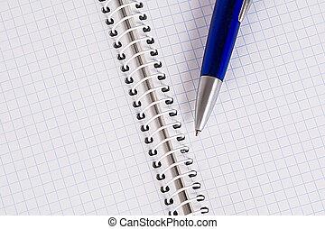 copybook, y, un, pluma