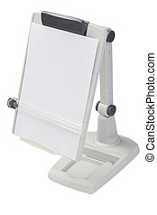 copyholder with blank paper
