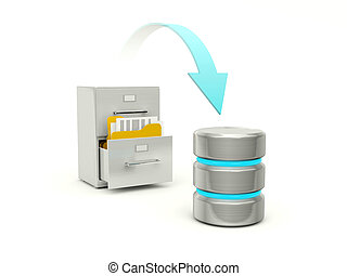 Copying files from archive to data base