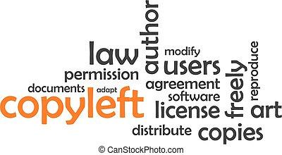 copyleft, 単語, -, 雲